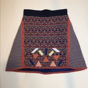 Cecilia Prado sweater A-line knit skirt.